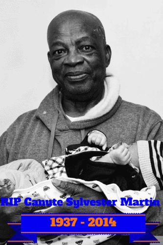 RIP Canute Martin 1937-2014 #Grandpa